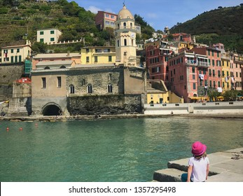 Cinque Terre, La Spezia (ITALY) - May 3, 2017.  Colorful historic fishing villages in Cinque Terre, Italy. A friendly place for visitors with stunning views of the coastline.