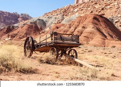 Circa 1860 Manure spreader, used by Mormon settlers in Grafton, Utah