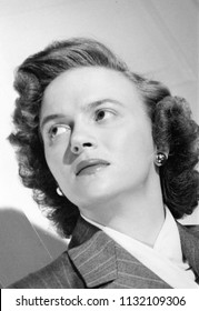 Circa 1945: vintage portrait of woman