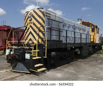 Circa 1952 American built Diesel Electric Locomotive. This particular engine was active in the eastern railway corridor of the United States.