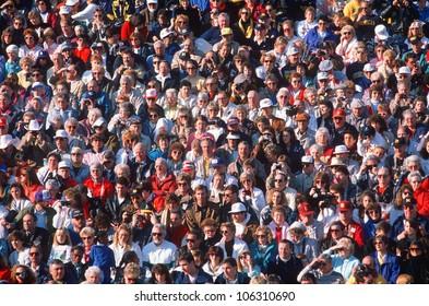 CIRCA 1990 - Large crowd of people USA