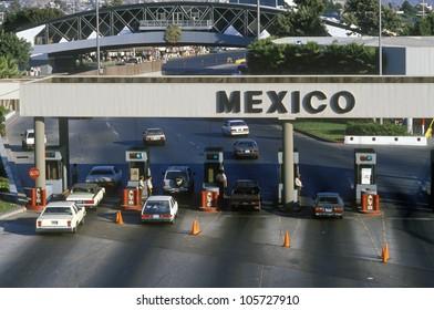 CIRCA 1990 - USA/Mexico border in San Diego, CA facing Tijuana