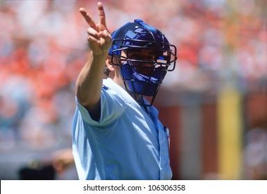 CIRCA 1991 - Major League umpire, San Francisco, California