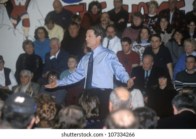 CIRCA 2000 - Vice President Al Gore campaigns for the Democratic presidential nomination in Salem, New Hampshire, before the primary