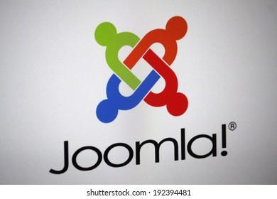 "CIRCA APRIL 2014 - BERLIN: the logo of the brand ""Joomla"", Berlin."