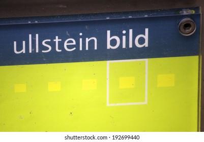 "CIRCA APRIL 2014 - BERLIN: the logo of the brand ""Ullstein Bild"", Berlin."