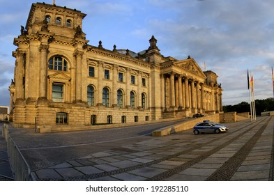 CIRCA APRIL 2014 - BERLIN: the Reichstags building in Berlin.
