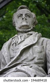CIRCA APRIL 2014 - BERLIN: a statue of the German 19th century composer Richard Wagner in the Tiergarten in Berlin.