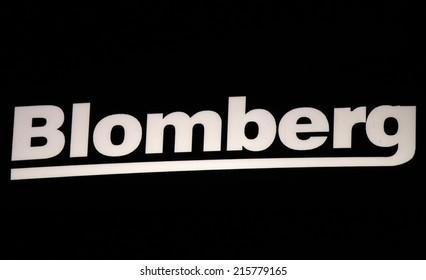 "CIRCA AUGUST 2014 - BERLIN: the logo of the brand ""Blomberg"", Berlin."