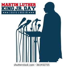 Circa January 13, 2016: An illustration of a portrait of Dr. Martin Luther King, Jr., on a white background.