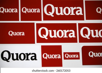 "CIRCA JANUARY 2015 - BERLIN: the logo of the brand ""Quora""."