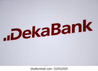 "CIRCA JULY 2014 - FRANKFURT: the logo of the brand ""Deka Bank"", Frankfurt am Main , Germany."