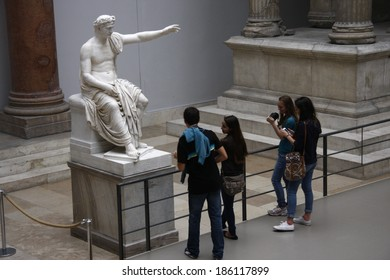 CIRCA JUNE 2013 - BERLIN: an ancient statue in the Pergamon Museum in Berlin.