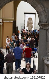 CIRCA JUNE 2013 - BERLIN: impressions: visitors in the Pergamon Museum in Berlin.