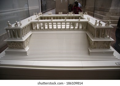 CIRCA JUNE 2013 - BERLIN: a model of the Pergamonaltar in the Pergamon Museum in Berlin.