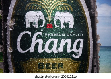 "CIRCA JUNE 2014 - BERLIN: the logo of the brand ""Chang Beer""."