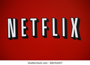 "CIRCA JUNE 2014 - BERLIN: the logo of the brand ""Netflix""."