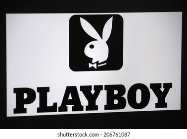 "CIRCA JUNE 2014 - BERLIN: the logo of the brand ""Playboy""."