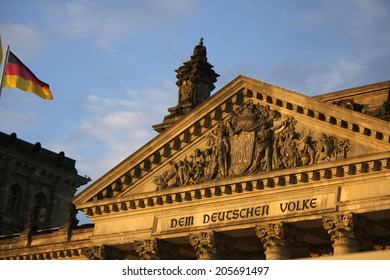 CIRCA JUNE 2014 - BERLIN: the Reichstags building in Berlin with its characteristic cupola.