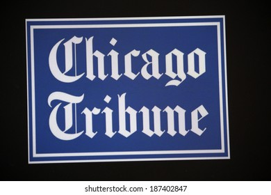 "CIRCA MARCH 2014 - BERLIN: the logo of the brand ""Chicago Tribune"", Berlin."