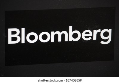"CIRCA MARCH 2014 - BERLIN: the logo of the brand ""Bloomberg"", Berlin."