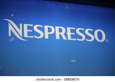 "CIRCA MARCH 2014 - BERLIN: the logo of the brand ""Nespresso"", Berlin."