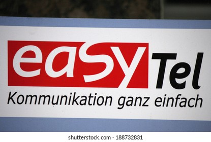 "CIRCA MARCH 2014 - BERLIN: the logo of the brand ""easy Tel"", Berlin."