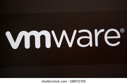 "CIRCA MARCH 2014 - BERLIN: the logo of the brand ""VMware""."