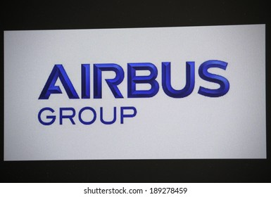 "CIRCA MARCH 2014 - BERLIN: the logo of the brand ""Airbus""."