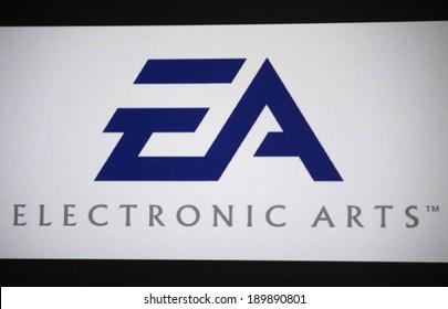 "CIRCA MARCH 2014 - BERLIN: the logo of the brand ""EA Electronic Arts""."