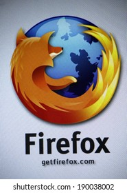 "CIRCA MARCH 2014 - BERLIN: the logo of the brand ""Firefox""."