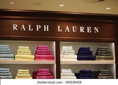 "CIRCA MARCH 2014 - BERLIN: the logo of the brand ""Ralph Lauren"", Berlin."