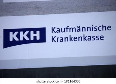 "CIRCA MARCH 2014 - BERLIN: the logo of the brand ""KKH Kaufmaennische Krankenkasse"", Berlin."