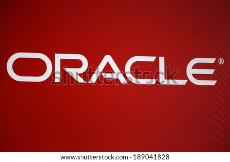 "CIRCA MARCH 2014 - BERLIN: the logo of the brand ""Oracle""."