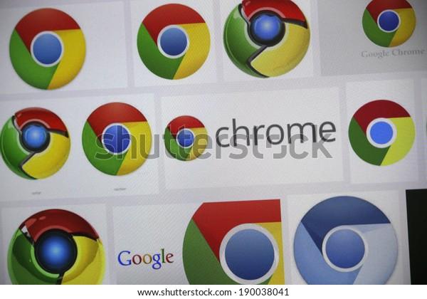 "CIRCA MARCH 2014 - BERLIN: the logo of the brand ""Chrome""."