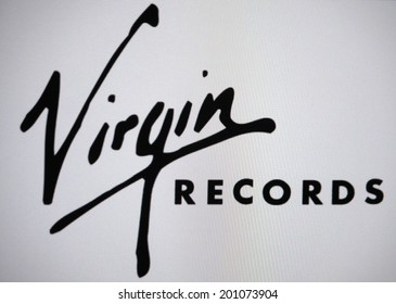 "CIRCA MAY 2014 - BERLIN: the logo of the brand ""Virgin Records"", Berlin."