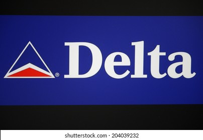 "CIRCA MAY 2014 - BERLIN: the logo of the brand ""Delat Airlines""."