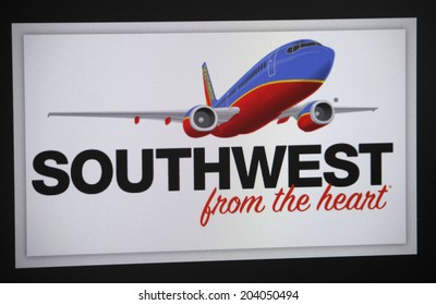 "CIRCA MAY 2014 - BERLIN: the logo of the brand ""Southwest Airlines""."