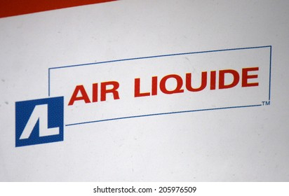 "CIRCA MAY 2014 - BERLIN: the logo of the brand ""Air Liquide""."