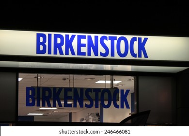 "CIRCA NOVEMBER 2014 - BERLIN: the logo of the brand ""Birkenstock"", Berlin."