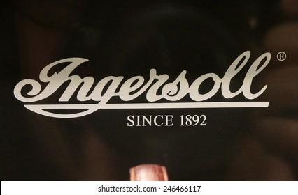 "CIRCA NOVEMBER 2014 - BERLIN: the logo of the brand ""Ingersoll"", Berlin."