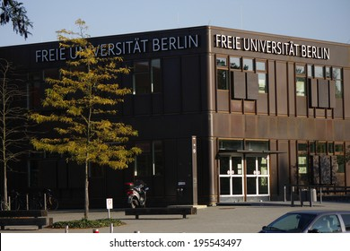 "CIRCA OCTOBER 2011 - BERLIN: the ""Rostlaube"" (rusty building), Free University of Berlin (FU Berlin)."