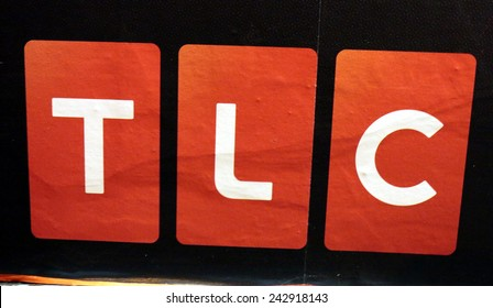 "CIRCA OCTOBER 2014 - BERLIN: the logo of the brand ""TLC"", Berlin."