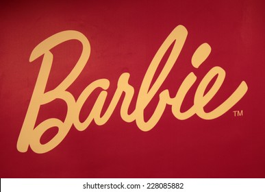 "CIRCA SEPTEMBER 2014 - BERLIN: the logo of the brand ""Barbie""."