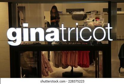 "CIRCA SEPTEMBER 2014 - BERLIN: the logo of the brand ""Gina Tricot"", Berlin."