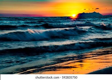 Circe sunset - Shutterstock ID 592835750