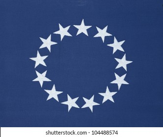Circle of 13 stars on original American flag
