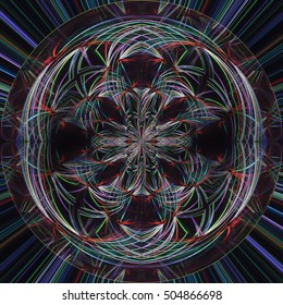 Circle abstract, Abstract background Laser light multicolored for design , The pattern on the wall