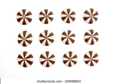circle biscuits isolated on white background