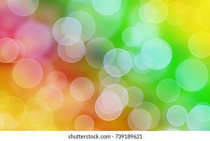 Circle bokeh on the rainbow background